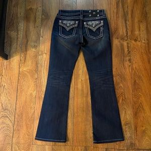 Gorgeous Miss Me midrise boot jeans, like new